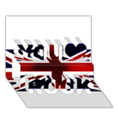 Brit10 You Rock 3d Greeting Card (7x5)