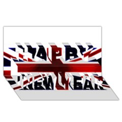 Brit10 Happy New Year 3d Greeting Card (8x4)
