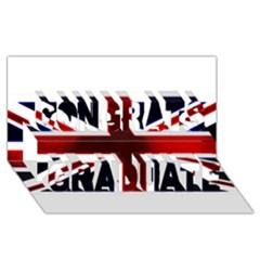 Brit10 Congrats Graduate 3D Greeting Card (8x4)