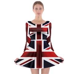 Brit10 Long Sleeve Skater Dress