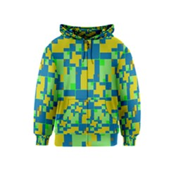 Shapes In Shapes Kids Zipper Hoodie