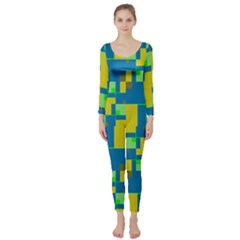 Shapes in shapes  Long Sleeve Catsuit