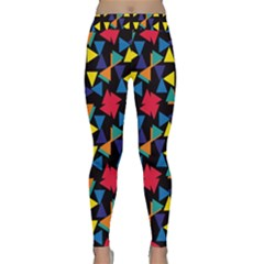 Colorful triangles and flowers pattern Yoga Leggings