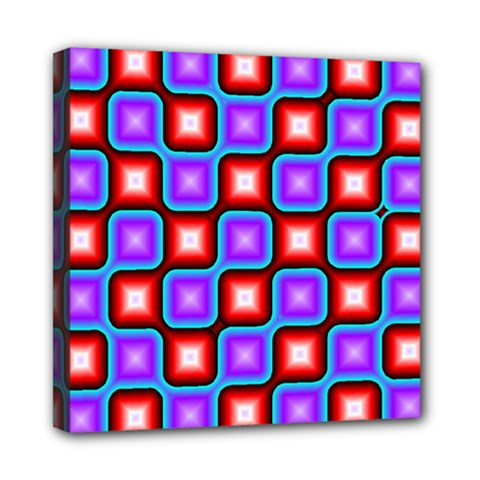 Connected squares pattern Mini Canvas 8  x 8  (Stretched)