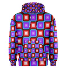 Connected squares pattern Men s Pullover Hoodie
