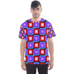 Connected squares pattern Men s Sport Mesh Tee