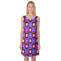 Connected squares pattern Sleeveless Satin Nightdress