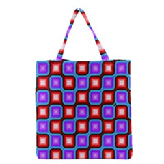 Connected squares pattern Grocery Tote Bag