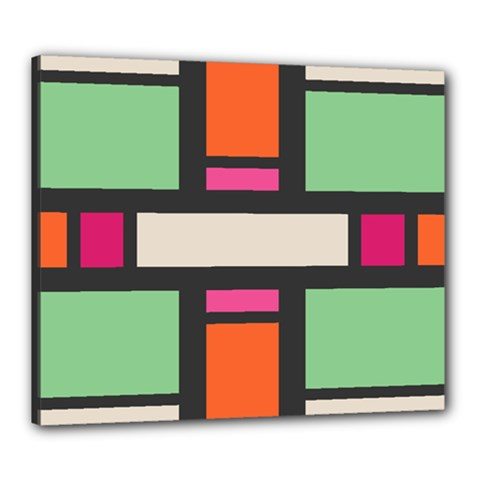 Rectangles cross Canvas 24  x 20  (Stretched)