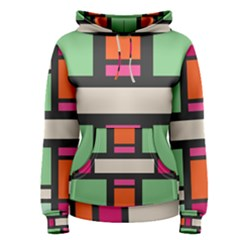 Rectangles Cross Women s Pullover Hoodie