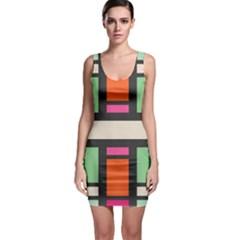 Rectangles cross Bodycon Dress