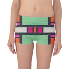 Rectangles cross Boyleg Bikini Bottoms