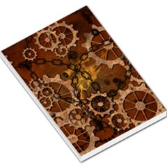 Steampunk In Rusty Metal Large Memo Pads