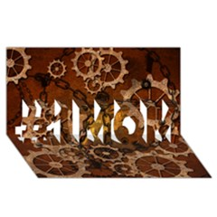 Steampunk In Rusty Metal #1 Mom 3d Greeting Cards (8x4)