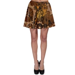 Steampunk In Rusty Metal Skater Skirts