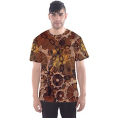 Steampunk In Rusty Metal Men s Sport Mesh Tees