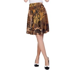 Steampunk In Rusty Metal A-Line Skirts