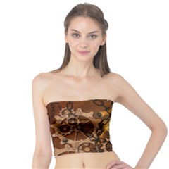 Steampunk In Rusty Metal Women s Tube Tops