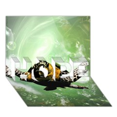 Beautiful Seaturtle With Bubbles Hope 3d Greeting Card (7x5)