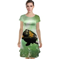 Beautiful Seaturtle With Bubbles Cap Sleeve Nightdresses