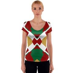 Marita Jorunn Women s V-Neck Cap Sleeve Top