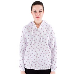 Officially Sexy OS Collection Pink & White Women s Zipper Hoodie