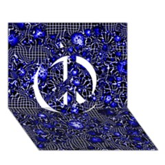 Sci Fi Fantasy Cosmos Blue Peace Sign 3d Greeting Card (7x5)