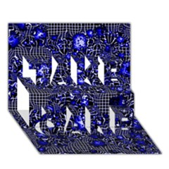 Sci Fi Fantasy Cosmos Blue TAKE CARE 3D Greeting Card (7x5)
