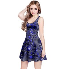 Sci Fi Fantasy Cosmos Blue Reversible Sleeveless Dresses