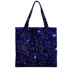 Sci Fi Fantasy Cosmos Blue Grocery Tote Bags
