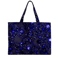Sci Fi Fantasy Cosmos Blue Zipper Tiny Tote Bags
