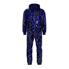 Sci Fi Fantasy Cosmos Blue Hooded Jumpsuit (Kids)