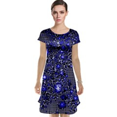 Sci Fi Fantasy Cosmos Blue Cap Sleeve Nightdresses