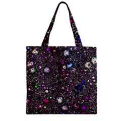 Sci Fi Fantasy Cosmos Pink Zipper Grocery Tote Bags