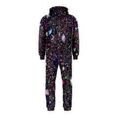 Sci Fi Fantasy Cosmos Pink Hooded Jumpsuit (Kids)