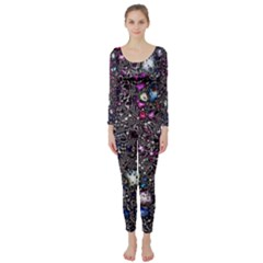 Sci Fi Fantasy Cosmos Pink Long Sleeve Catsuit