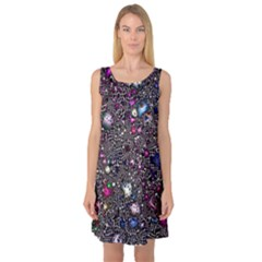 Sci Fi Fantasy Cosmos Pink Sleeveless Satin Nightdresses