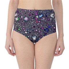 Sci Fi Fantasy Cosmos Pink High-Waist Bikini Bottoms