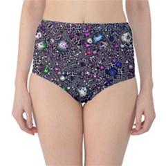 Sci Fi Fantasy Cosmos Pink High Waist Bikini Bottoms
