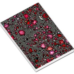 Sci Fi Fantasy Cosmos Red  Large Memo Pads