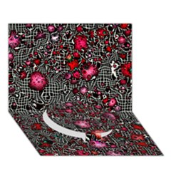 Sci Fi Fantasy Cosmos Red  Circle Bottom 3d Greeting Card (7x5)