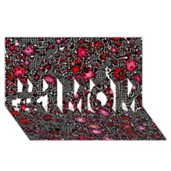 Sci Fi Fantasy Cosmos Red  #1 MOM 3D Greeting Cards (8x4)