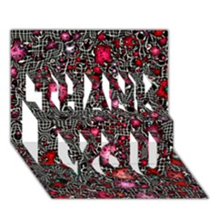 Sci Fi Fantasy Cosmos Red  THANK YOU 3D Greeting Card (7x5)