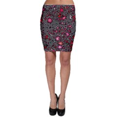 Sci Fi Fantasy Cosmos Red  Bodycon Skirts