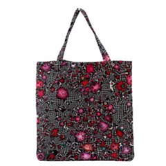 Sci Fi Fantasy Cosmos Red  Grocery Tote Bags