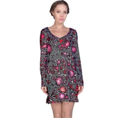 Sci Fi Fantasy Cosmos Red  Long Sleeve Nightdresses