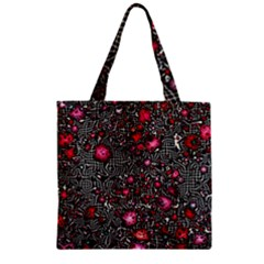 Sci Fi Fantasy Cosmos Red  Zipper Grocery Tote Bags
