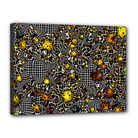 Sci Fi Fantasy Cosmos Yellow Canvas 16  x 12