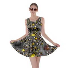 Sci Fi Fantasy Cosmos Yellow Skater Dresses