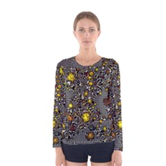Sci Fi Fantasy Cosmos Yellow Women s Long Sleeve T Shirts